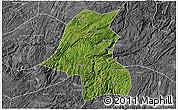 Satellite 3D Map of Kaiyang, desaturated