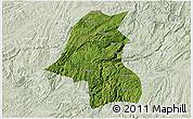 Satellite 3D Map of Kaiyang, lighten
