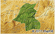 Satellite 3D Map of Kaiyang, physical outside