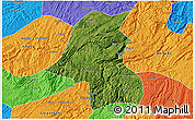 Satellite 3D Map of Kaiyang, political outside