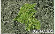 Satellite 3D Map of Kaiyang, semi-desaturated