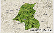 Satellite 3D Map of Kaiyang, shaded relief outside