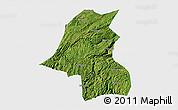 Satellite 3D Map of Kaiyang, single color outside