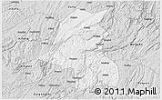 Silver Style 3D Map of Kaiyang