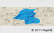 Political Panoramic Map of Kaiyang, shaded relief outside