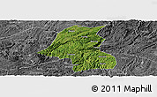 Satellite Panoramic Map of Kaiyang, desaturated