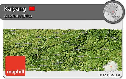 Satellite Panoramic Map of Kaiyang