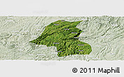Satellite Panoramic Map of Kaiyang, lighten