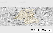 Shaded Relief Panoramic Map of Kaiyang, desaturated