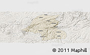 Shaded Relief Panoramic Map of Kaiyang, lighten