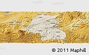 Shaded Relief Panoramic Map of Kaiyang, physical outside