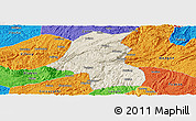 Shaded Relief Panoramic Map of Kaiyang, political outside