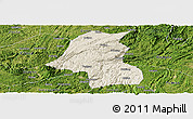 Shaded Relief Panoramic Map of Kaiyang, satellite outside