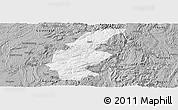 Gray Panoramic Map of Longli