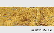 Physical Panoramic Map of Longli