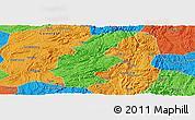 Political Panoramic Map of Longli