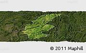 Satellite Panoramic Map of Longli, darken