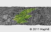 Satellite Panoramic Map of Longli, desaturated