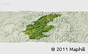 Satellite Panoramic Map of Longli, lighten