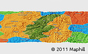 Satellite Panoramic Map of Longli, political outside
