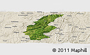 Satellite Panoramic Map of Longli, shaded relief outside