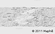 Silver Style Panoramic Map of Longli