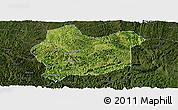 Satellite Panoramic Map of Luodian, darken