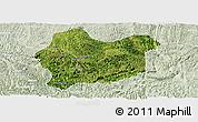 Satellite Panoramic Map of Luodian, lighten