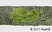 Satellite Panoramic Map of Luodian, semi-desaturated