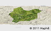 Satellite Panoramic Map of Luodian, shaded relief outside