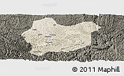 Shaded Relief Panoramic Map of Luodian, darken