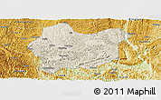 Shaded Relief Panoramic Map of Luodian, physical outside