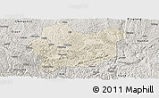 Shaded Relief Panoramic Map of Luodian, semi-desaturated