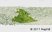 Satellite Panoramic Map of Luzhi, lighten