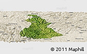 Satellite Panoramic Map of Luzhi, shaded relief outside