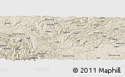 Shaded Relief Panoramic Map of Luzhi