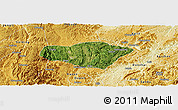 Satellite Panoramic Map of Majiang, physical outside
