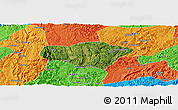 Satellite Panoramic Map of Majiang, political outside