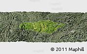 Satellite Panoramic Map of Majiang, semi-desaturated