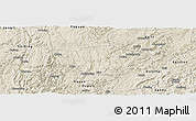 Shaded Relief Panoramic Map of Majiang
