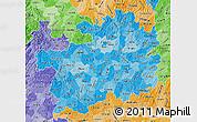 Political Shades Map of Guizhou