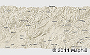 Shaded Relief Panoramic Map of Meitan