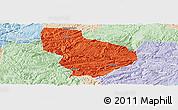 Political Panoramic Map of Nayong, lighten