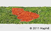 Political Panoramic Map of Nayong, satellite outside