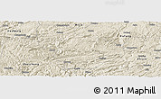 Shaded Relief Panoramic Map of Nayong