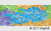 Political Shades Panoramic Map of Guizhou