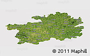 Satellite Panoramic Map of Guizhou, cropped outside