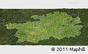 Satellite Panoramic Map of Guizhou, darken