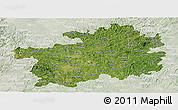 Satellite Panoramic Map of Guizhou, lighten