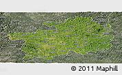 Satellite Panoramic Map of Guizhou, semi-desaturated